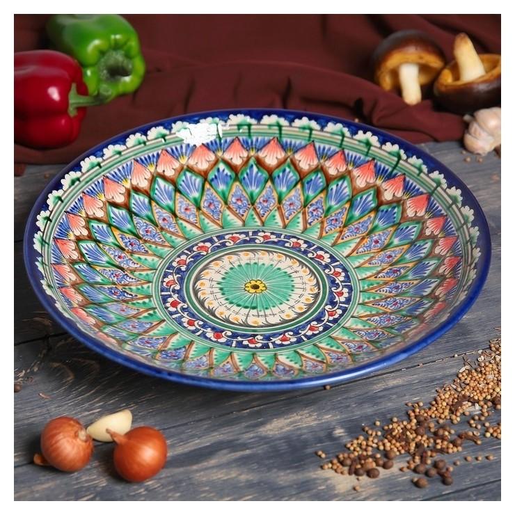Ляган глубокий круглый 33 см  Риштанская керамика
