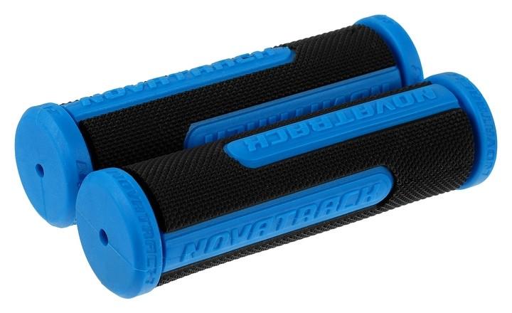 Грипсы Novatrack, 110 мм, цвет чёрный/синий  STG