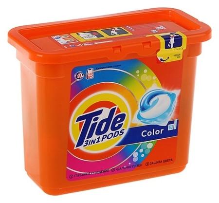 Гель для стирки в капсулах Tide Color, 23х24,8 г  Tide