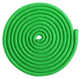 Скакалка гимнастическая утяжелённая, верёвочная, 2,5 м, 150 г, цвет светло-зелёный