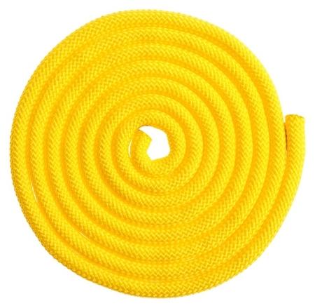 Скакалка гимнастическая утяжелённая, верёвочная, 2,5 м, 150 г, цвет жёлтый  Grace dance