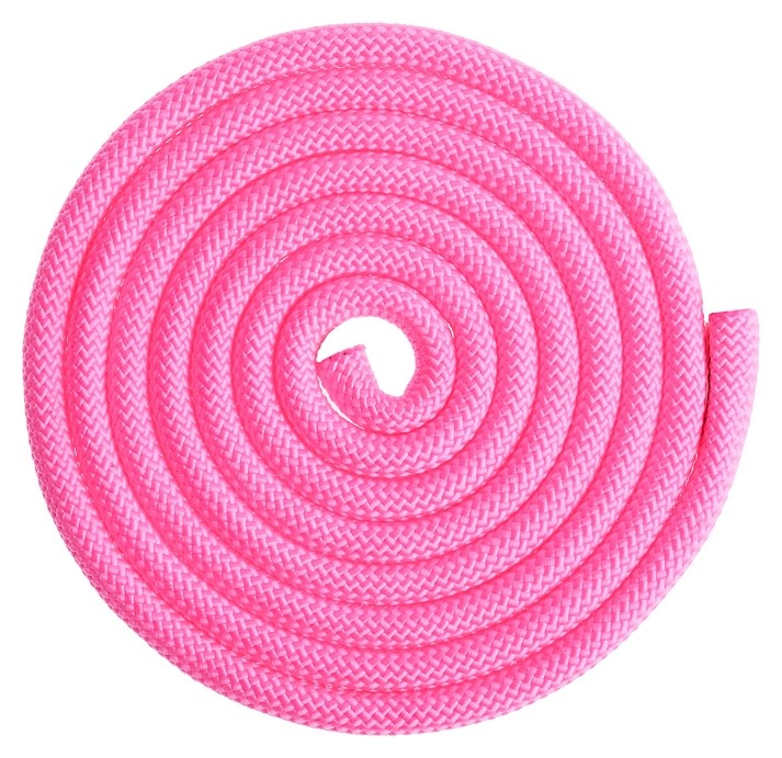 Скакалка гимнастическая утяжелённая, 2,5 м, 150 г, цвет неон розовый  Grace dance