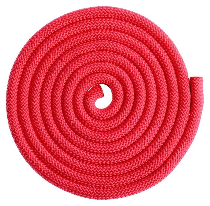 Скакалка гимнастическая утяжелённая, 2,5 м, 150 г, цвет красный  Grace dance
