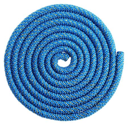 Скакалка гимнастическая, 2,5 м, 150 г, цвет синий/золото/люрекс  Grace dance