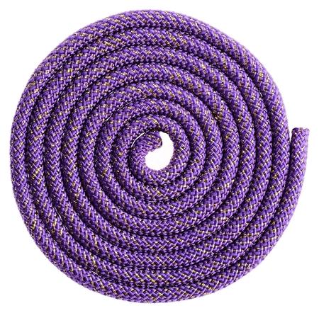 Скакалка гимнастическая, 2,5 м, 150 г, цвет фиолетовый/золото/люрекс  Grace dance