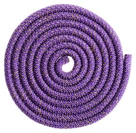 Скакалка гимнастическая, 3 м, 180 г, цвет фиолетовый/золото/люрекс
