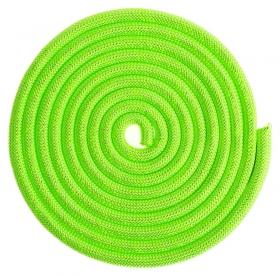 Скакалка для гимнастики утяжелённая с люрексом, 3 м, цвет салатовый