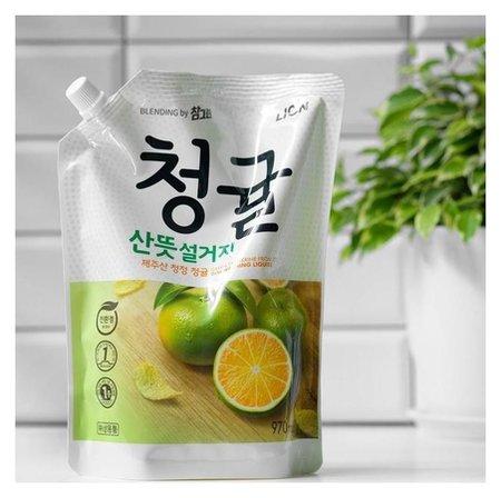 Средство для мытья посуды Lion Chamgreen зеленый цитрус, 970 мл  CJ Lion
