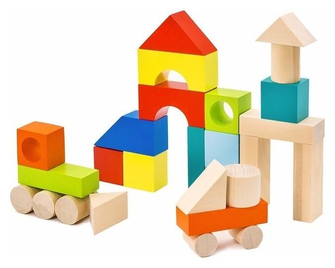 Конструктор «Городок» наполовину окрашенный, 27 элементов  Alatoys