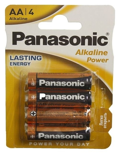 Батарейка алкалиновая Panasonic Alkaline Power, AA, R06-4bl, 1.5в, блистер, 4 шт.  Panasonic