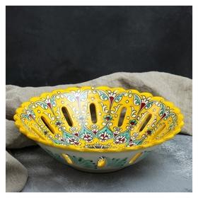 Фруктовница 28 см  Риштанская керамика