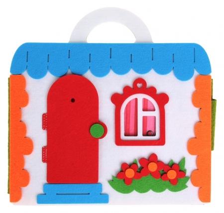 """Коврик-игралка """"Кукольный домик"""", высота куклы — 11 см  Smile Decor"""