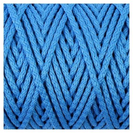 Шнур для вязания с сердечником 100% полиэфир, ширина 5 мм 100м/550гр (14 синий)  Osttex