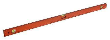 Уровень Sparta, 100 см, алюминиевый, 3 глазка, оранжевый, линейка  Sparta