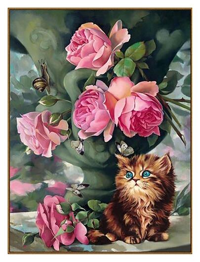 Алмазная мозаика «Утро в саду», 33 цвета  Milato