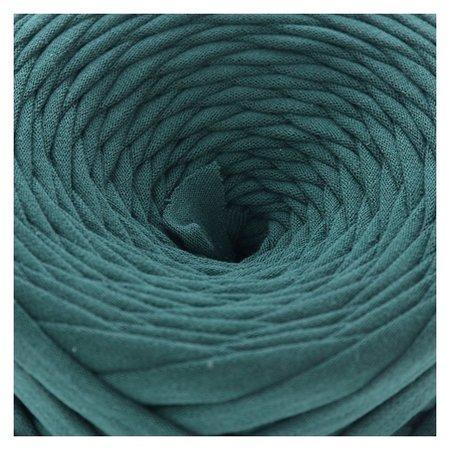 Пряжа трикотажная широкая 50м/170гр, ширина нити 7-8 мм (Тенистая ель)  Елена и Ко