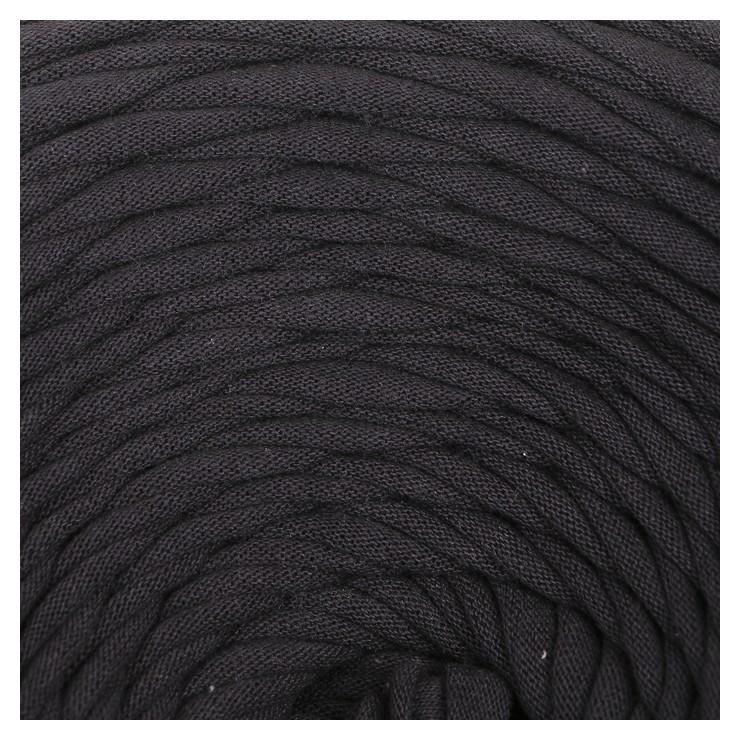 Пряжа трикотажная широкая 100м/350гр, ширина 7-9 мм (Графит)  Елена и Ко