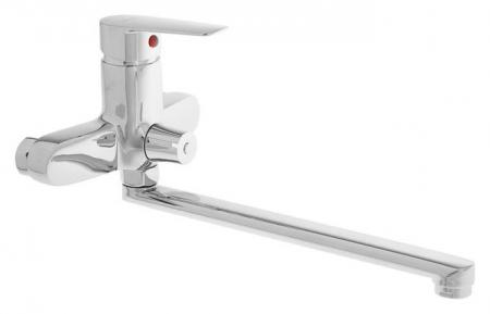 Смеситель для ванны Accoona A7165, однорычажный, излив 300 мм, хром  Accoona