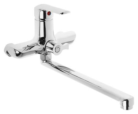 Cмеситель для ванны Accoona A7168, однорычажный, излив 300 мм, силумин, хром Accoona