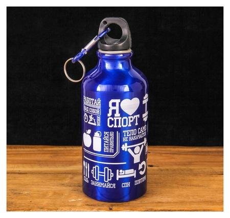 """Бутылка для воды """"Я люблю спорт"""", 400 мл  Командор"""