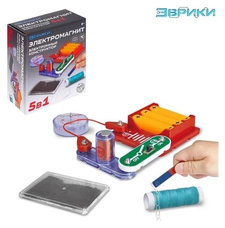 Электронный конструктор «Электромагнит», 5 в 1, 16 элементов  Эврики