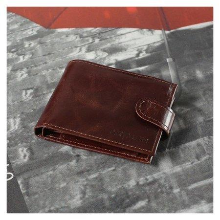 Портмоне мужское, 2 отдела, отдел для карт и монет, цвет пулл-ап коричневый  Cayman