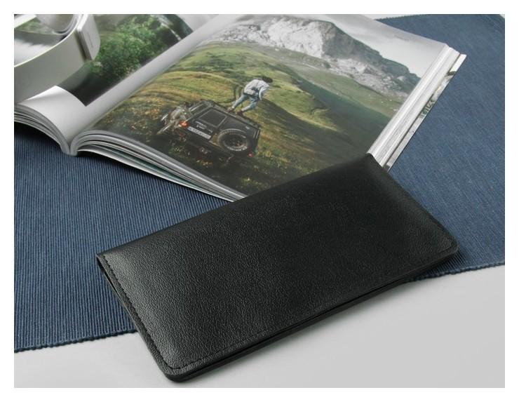 Портмоне мужское, 2 отдела, для кредиток, наружный карман, цвет чёрный  Cayman