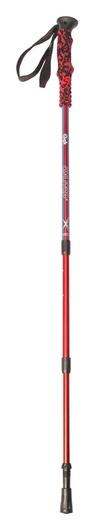 Палка для скандинавской ходьбы телескопическая, 3 секции, алюминий, до 135 см, (1 шт), цвет красно-синий  Onlitop