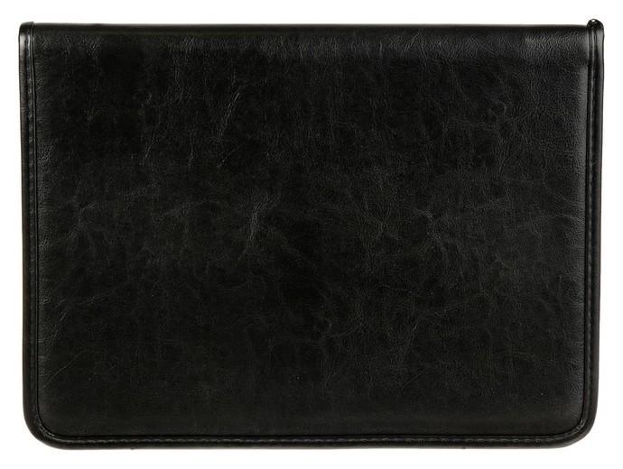 Пaпка деловая, искусственная кожа, 360 х 260 х 30 мм, «Люкс», канцбург, чёрная (Ручка-петля)  Канцбург