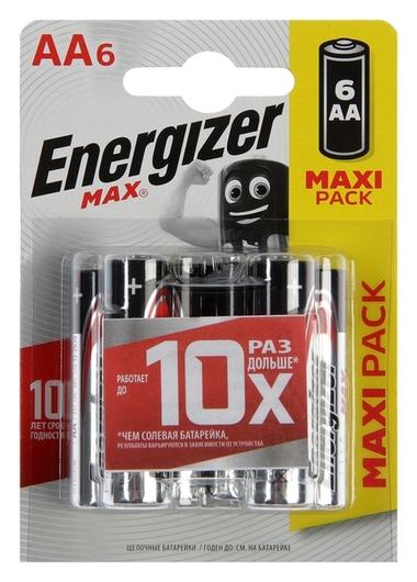 Батарейка алкалиновая Energizer Max +powerseal, AA, Lr6-6bl, 1.5в, блистер, 6 шт.  Energizer