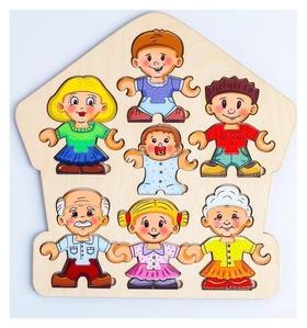 Пазл-конструктор «Собери персонажа. семья»