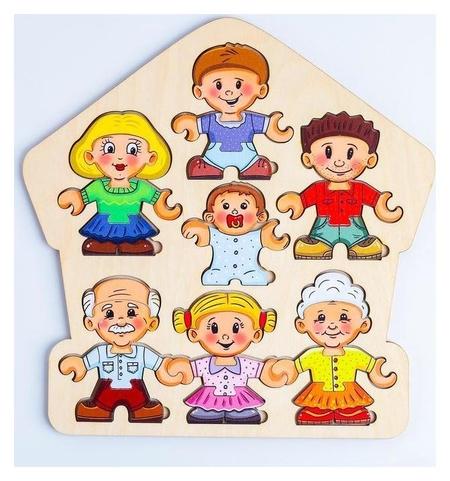 Пазл-конструктор «Собери персонажа. семья»  Smile Decor