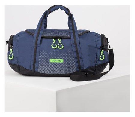 Сумка спортивная, отдел на молнии, 2 наружных кармана, длинный ремень, цвет синий/чёрный  Luris