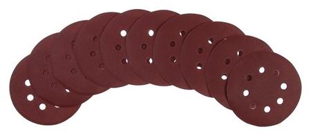 """Круг абразивный шлифовальный под """"Липучку"""" Tundra, перфорированный, 125 мм, р220, 10 шт.  Tundra"""