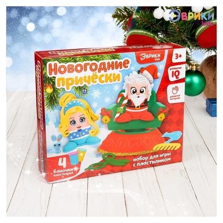 Набор для игры с пластилином «Новогодние причёски»  Эврики