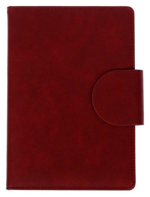 Ежедневник недатированный А5, 160 листов Norwich, обложка искусственная кожа, 2 ляссе, тонированный блок 70 г/м2, красный  deVente