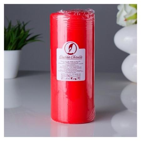Свеча классическая 8х20 см Красная  Омский свечной завод