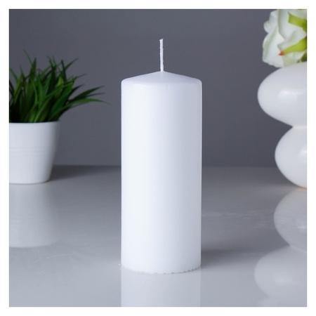 Свеча классическая 7х17 см Белая  Омский свечной завод