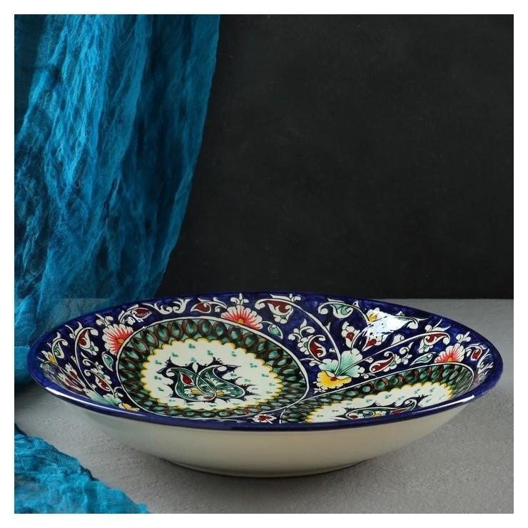 Ляган глубокий 33см Риштанская керамика
