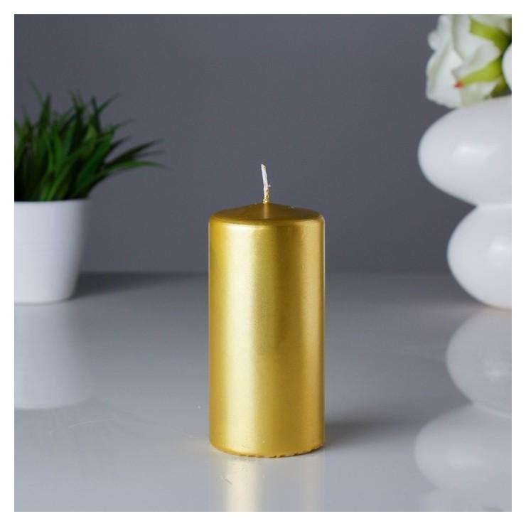 Свеча пенек Золотая 60x125 см  Омский свечной завод