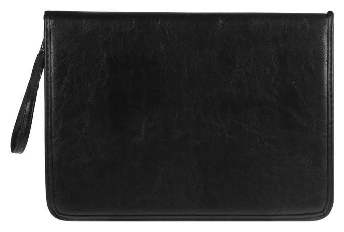 Пaпка деловая, искусственная кожа, 360 х 260 х 30 мм, «Люкс» канцбург, чёрная (Ручка-петля)  Канцбург