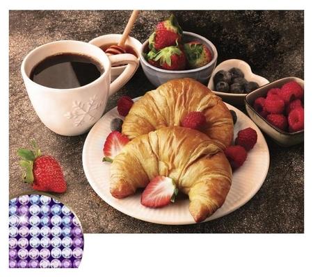 Алмазная вышивка с частичным заполнением «Вкусный завтрак» 30х40 см, холст, ёмкость  Школа талантов