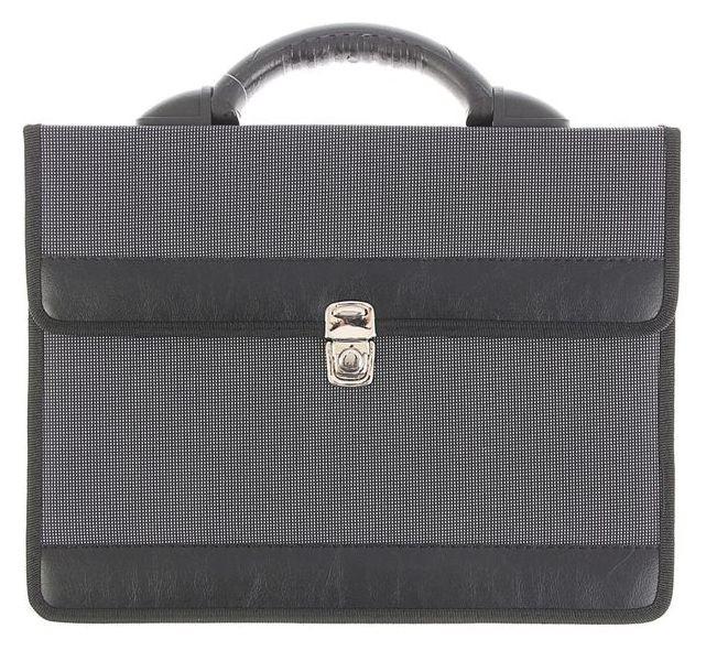 "Портфель деловой ткань 350 х 260 х 100 мм,""Приморск"", серый  Канцбург"