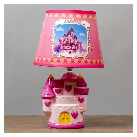 Лампа настольная Королевство розовый E14 40вт 220в 32х20х20 см КНР