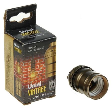 Патрон декоративный Uniel Vintage, без выключателя, алюминий, цвет бронза  Uniel