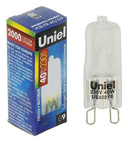 Лампа галогенная Uniel, 40 Вт, G9, 230 В, матовая  Uniel