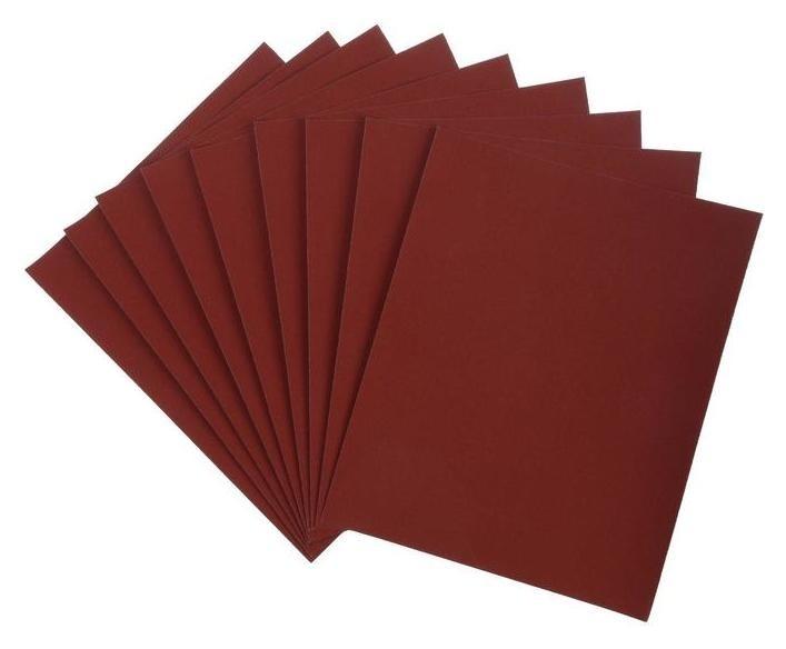 Шкурка шлифовальная в листах Lom, на бумажной основе водостойкая, 230 х 280, р2000, 10 шт. LOM