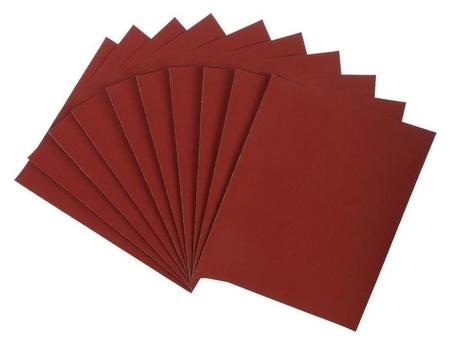 Шкурка шлифовальная в листах Lom, на бумажной основе водостойкая, 230 х 280, р400, 10 шт.  LOM