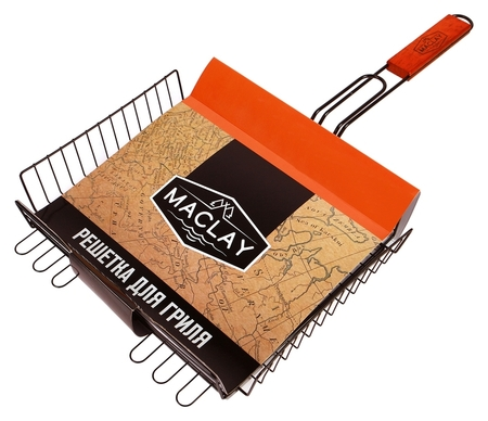 Решетка гриль для мяса 28 х 31 х 6 см, Premium, глубокая антипригарная  Maclay