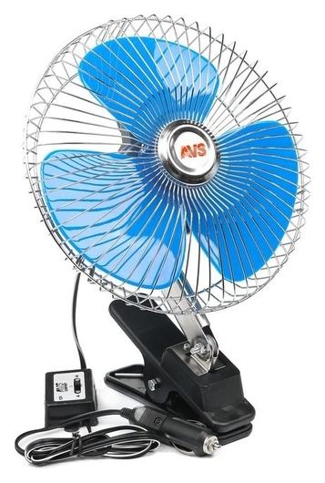 """Вентилятор автомобильный AVS Comfort 8048, 12 В 8"""", металл, серебристый  AVS"""